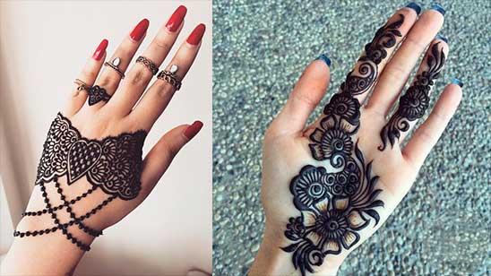 Simple and Easy Jewellery Mehendi Design