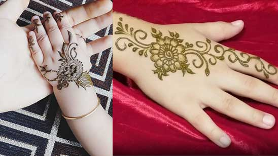 Simple and Easy Kids Mehndi Design