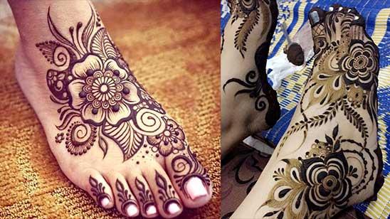 Simple and Easy Leg Mehndi Design Simple