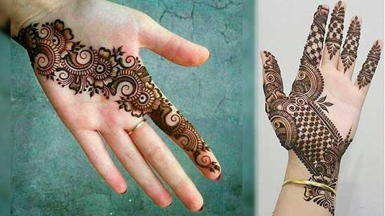 Simple and Easy Mehendi Design of Khafif