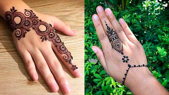 Simple and Easy Mehndi Design of Jewellery