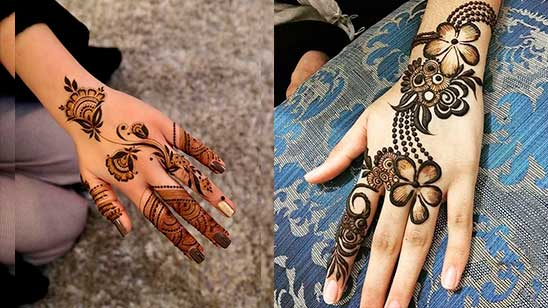 Simple and Easy Mehndi Design of Khafif