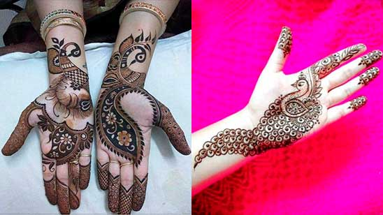 Simple and Easy Palm Mehndi Design