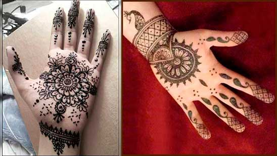 Simple and Easy Round Mehndi Design