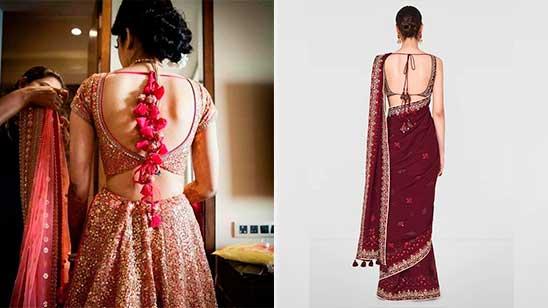 Back Design of Bridal Blouse