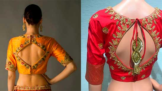 Back Design of Embroidery Blouse
