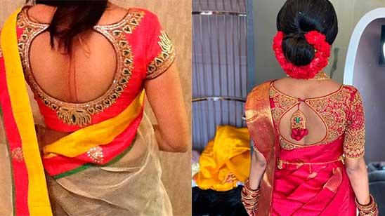 Back Design on Bridal Blouse