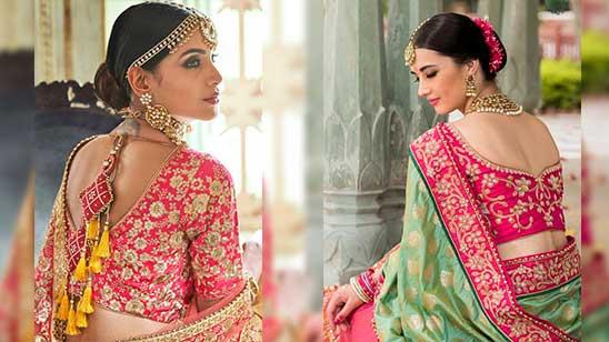 Back Designs of Bridal Blouse