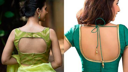 Back Hook Blouse Back Side Design