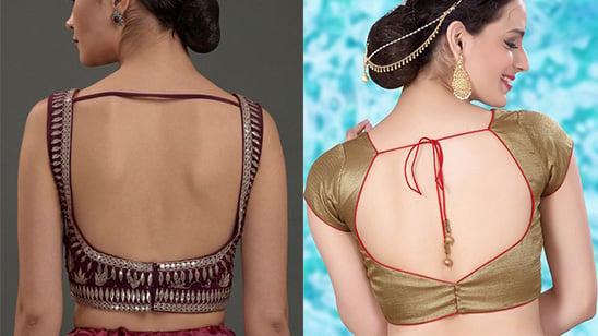 Back Hook Blouse Design for Bride
