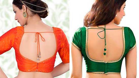 Back Hook Blouse Design for Brides