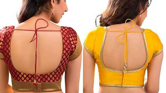 Back Hook Blouse Design