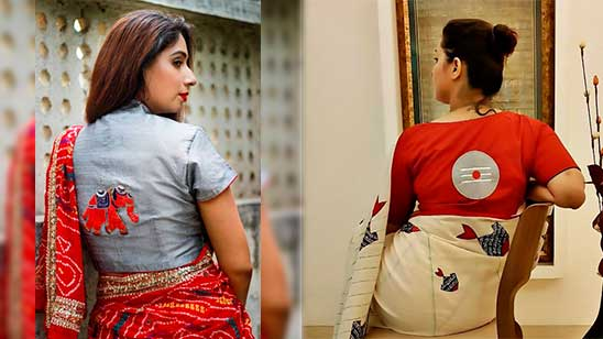 Back Neck Design of Blouse With Hand Work