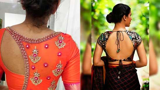 Back Neck Design of Blouse