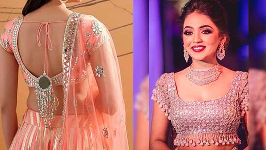 Back Neck Design of Bridal Blouse