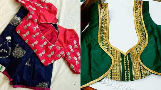 Back Neck Design of Kathpadar Blouse