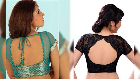 Back Neck Design of Net Blouse