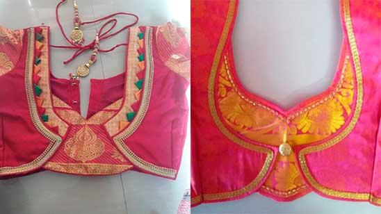 Back Neck Design of Paithani Blouse