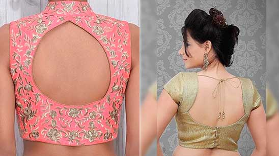Back Open Blous Neck Designs