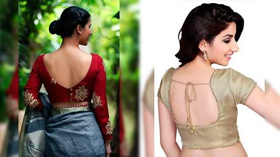 Back Open Blouse Designs