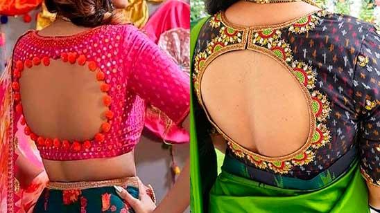 Back Side Design for Facny Blouse