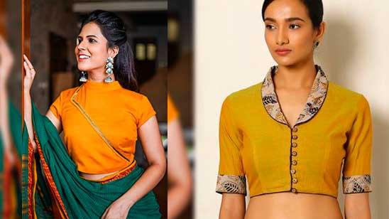 Back Side Design of Collar Blouse