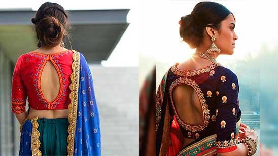 Back Side Design of Fancy Blouse