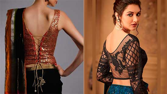 Back Side Fancy Blouse Design
