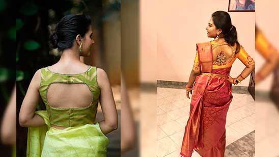 Back Side Kathpadar Blouse Design