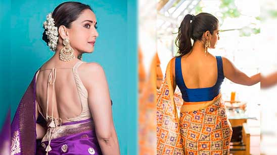 Backless Blouse Designs Catalogue