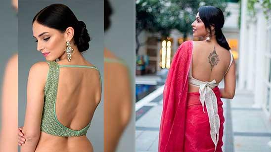 Backless Blouse Neck Design