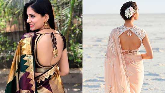 Backless Blouse with Dori