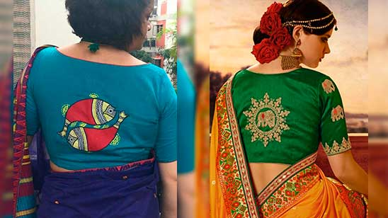 Blouse Back Design with Hand Work