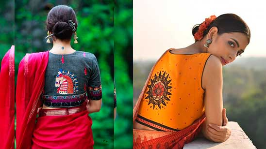 Blouse Back Neck Design with Hand Work