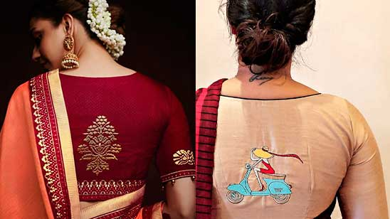 Blouse Back Neck Design with Patch Work