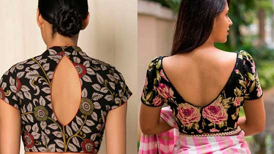 Boat Neck Blouse Front and Back