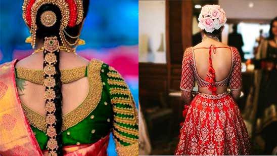 Bridal Blouse Back Design