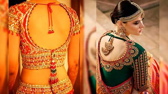 Bridal Blouse Back Designs