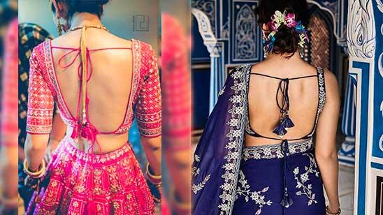 Bridal Blouse Back Neck Design