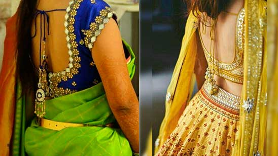 Bridal Blouse Back Neck Designs