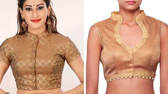 Collar Blouse Back Side Design