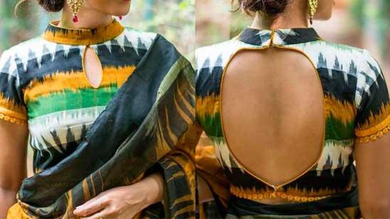 Collar Neck Blouse Back Designs