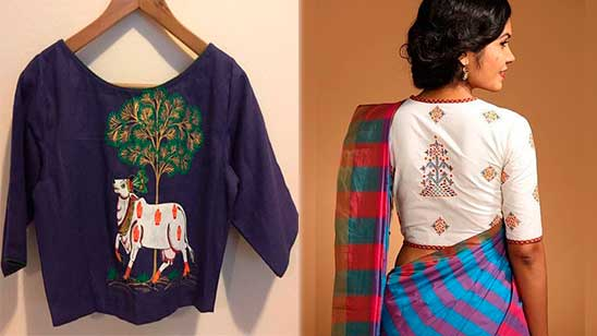 Design of Blouse with Hand Work