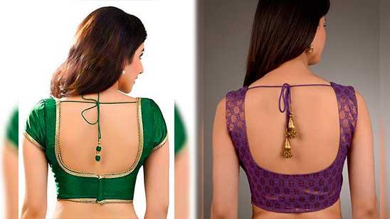 Design for Back Open Blouse