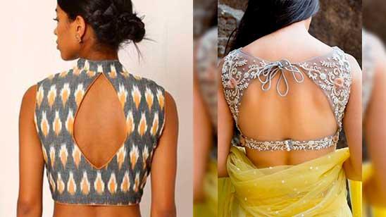 Design of Back Open Blouse