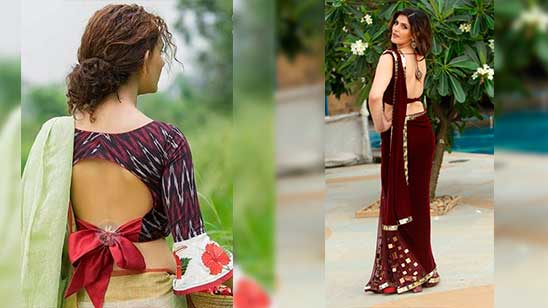 Design of Backless Blouse