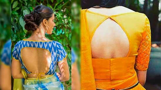 Design of Open Back Blouse