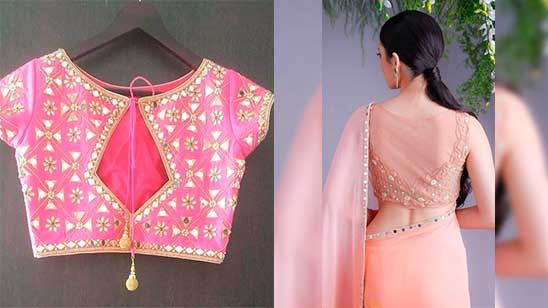 Embroidery Blouse Back Design