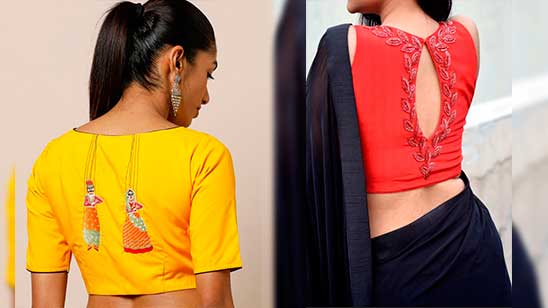 Embroidery Blouse Back Designs