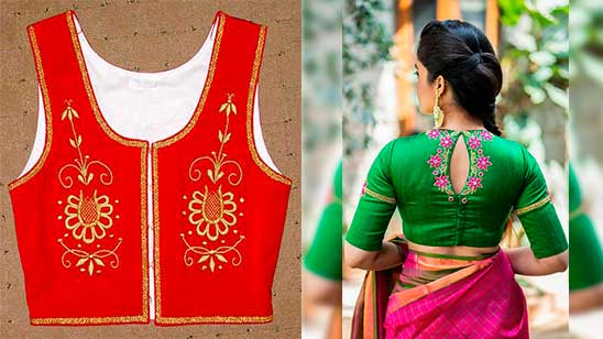 Embroidery Blouse Back Neck Design